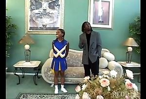 Ebony cheerleader slammed constant as a result sexy