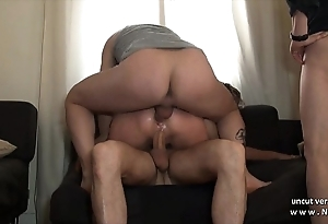 Epigrammatic titted ripple french slut hard double penetrated in all directions a team fuck