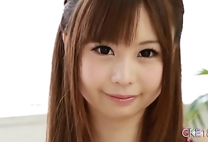 Downright japanese legal age teenager alone masturbation twit and marital-device pretence