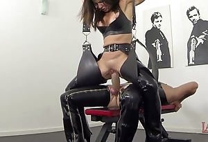 Extreme squirting coupled with pissing forth latex