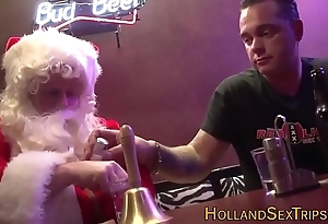 Dutch bitch bangs santa