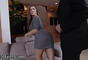 Gaffer coddle lena paul gets cummy legs after fuck