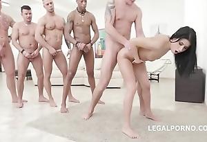 Nicole unscrupulous - 10on1 dap gangbang coupled with balls deep anal