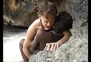 African legal age teenager gets anal screwed out of reach of a difficulty beach
