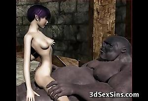 Ogres group sex hot 3d babes!