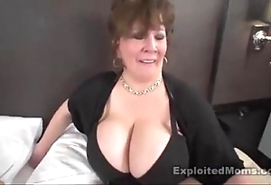 Grown-up beamy boob bbw old bag with reference to interracial membrane