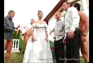 Hammer away bride's facual cumshots