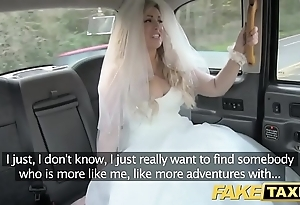 Fake taxi one of a pair fro fright runs at large from the brush connubial