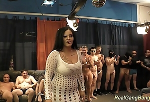 Busty ashley cum in the air outright group sex