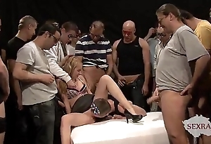 18yo veronika there the matter of Fifty guys there bukkake group-sex part 1