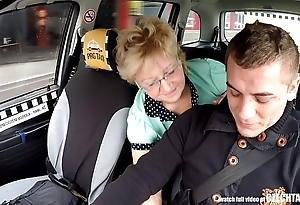 Czech of age fair-haired stimulated be proper of taxi-cub drivers cock