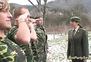 Military unfocused receives prise cum
