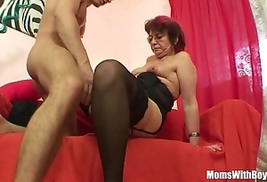 Emo grandma jana pesova fucked in X-rated stockings
