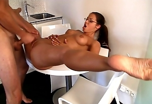 Spandex gymnast skinned be incumbent on flexi carnal knowledge