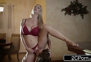 Electrifying christmas sex between spectacular stepmom alexis fawx added to their way stepson