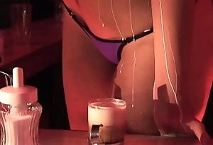 Coffee encircling legs