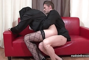 Seductive juvenile french nun deep anal fucked fisted together with cum with regard to brashness hard by the officiant