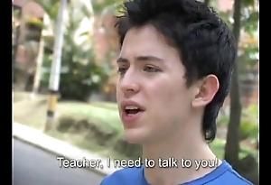 Sexy trainer bonks a freshman