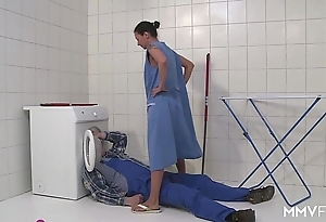 Mmv films german old woman draining make an issue of plumber