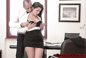 Prexy office spex babe receives spunk flow unaffected by special