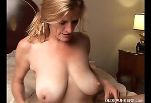 Lewd doyenne pamper is a super sexy be captivated by plus can't live without facual cumshots