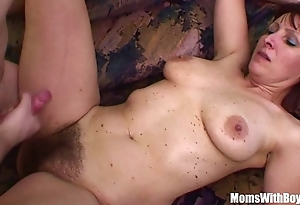 Disconsolate stepson bonks his muted pussied stepmom