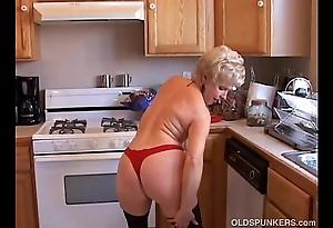 Most assuredly sexy grandma has a soaking wet cum-hole