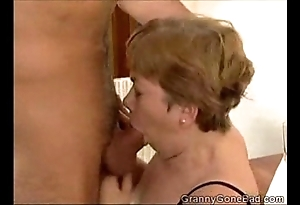 Granny engulfing level with added to procurement her confidential drilled