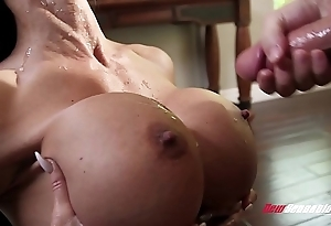 Stepmom jewels puncture going to bed her hung stepson