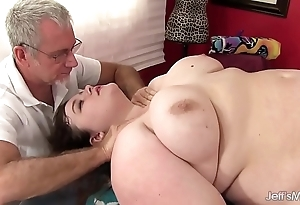 Hawt fatty sapphire serrate acquires a coitus kneading