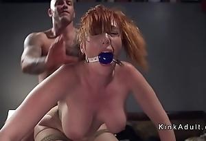 Gagged huge pair redhead anal screwed