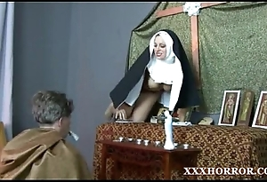 Nun angelica prones say no to irritant with get under one's debased