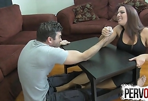 Arm wrestling shameful pursuit ballbusting femdom tugjob